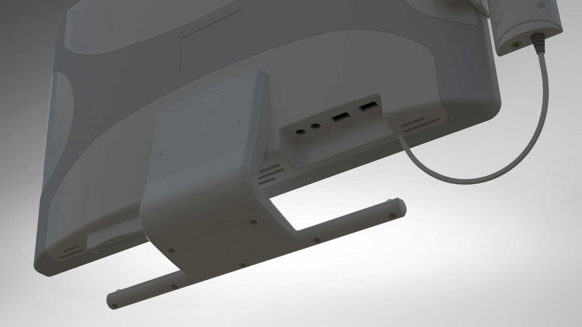 Display terminal rear