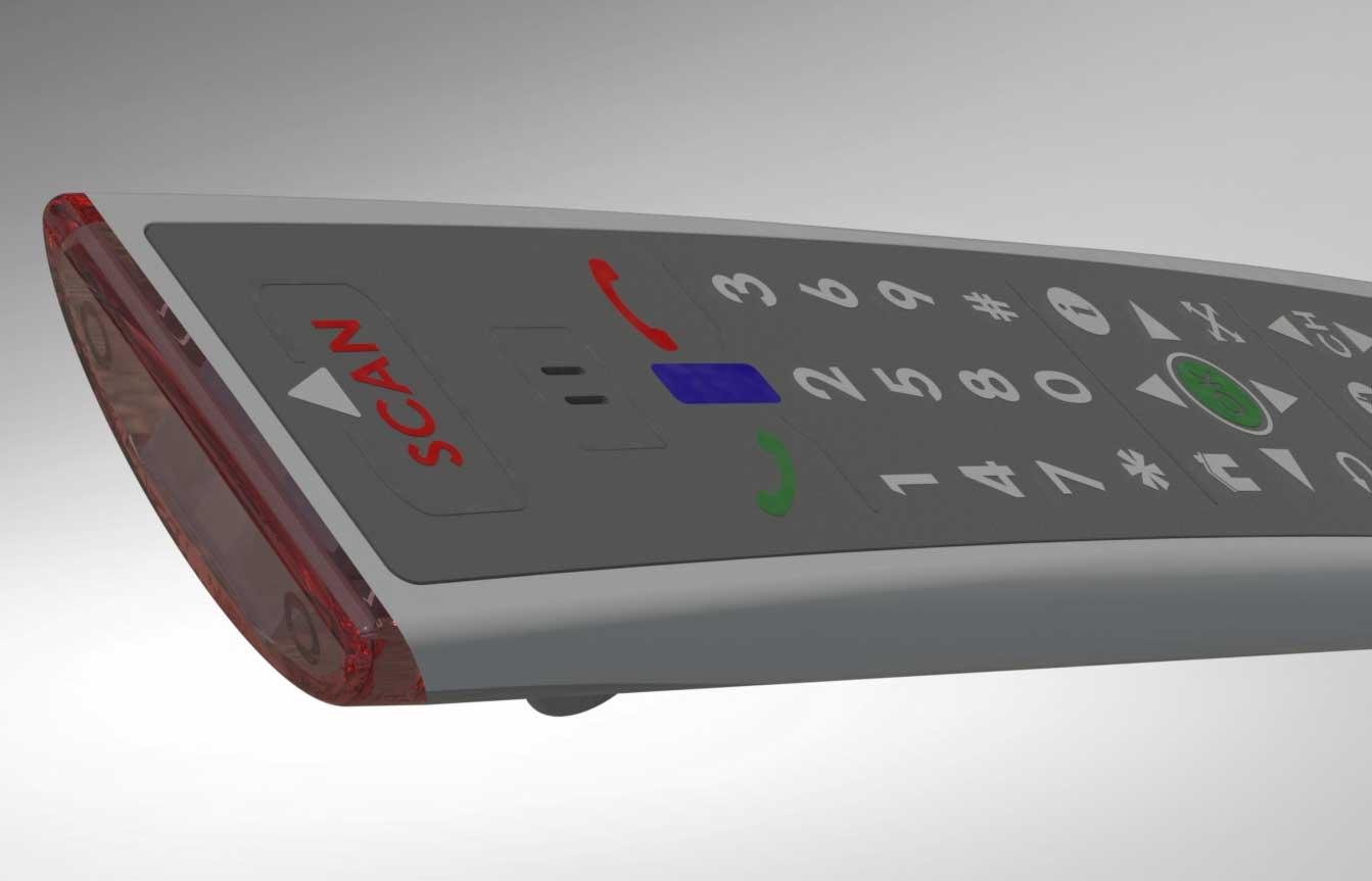 Remote control handset